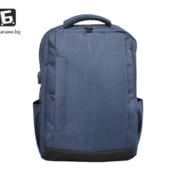 Висок клас синя раница с USB кабел код: 0902
