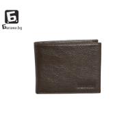 Мъжки портфейл от естествена кожа - кафяв код: д112
