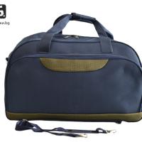 Синя пътна чанта/сак от текстил код: 11775