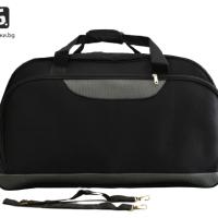 Черна пътна чанта/сак от текстил код: 11775