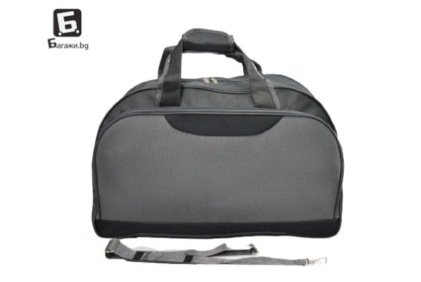 Сива авио/пътна чанта от текстил код: 11774