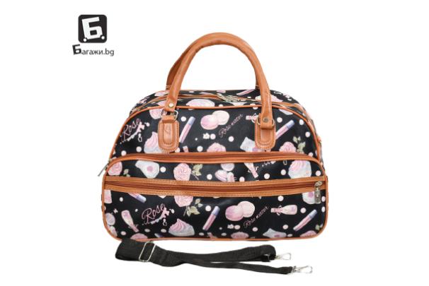 Малка пътна чанта от еко кожа код: 31695-10