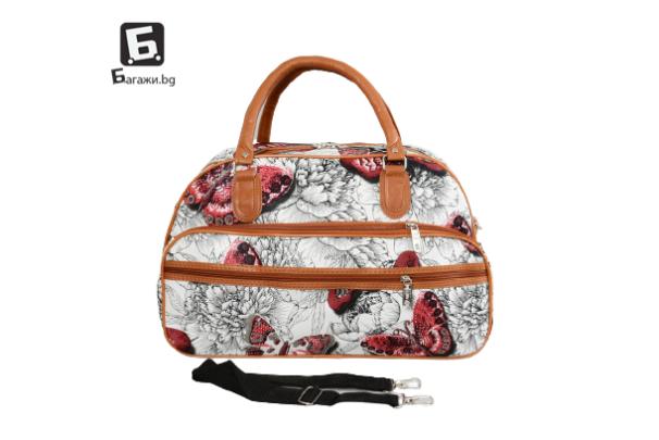 Малка пътна чанта от еко кожа код: 31695-9
