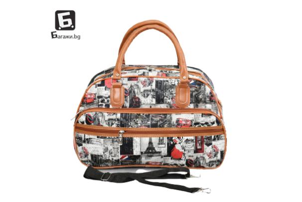 Малка пътна чанта от еко кожа код: 31695-4