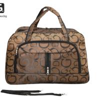 Кафява пътна чанта от текстил код: 32003