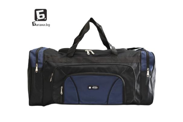 Син текстилен сак за багаж Sport код: 17