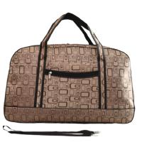 Кафява пътна чанта- сак от текстил код: 11677