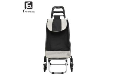 Черна пазарска количка с тройни колела код: 11795