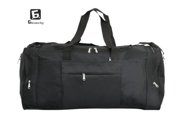 Черен текстилен сак в три размера код: 413