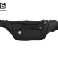Черна спортна чантичка тип банан КОД: 2077