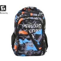 Камуфлажна ученическа раница- оранжева код: 8764