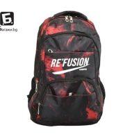 Камуфлажна ученическа раница Re Fusion- червена код: 8671