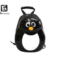 Детска раничка от поликарбон с формата на пингвин