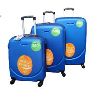Твърди куфари в три размера- светло сини