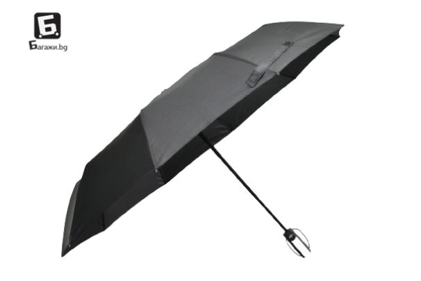 Сгъваем автоматичен мъжки чадър
