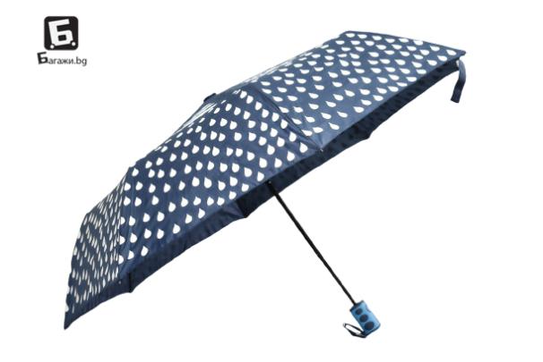 Полуавтоматичен магически чадър- син