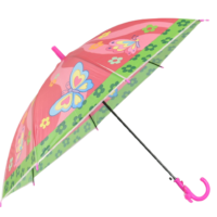 Детски чадър розов с пеперуди