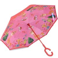 Ветроупорен детски чадър с жираф