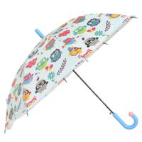 Детски чадър син с бухалчета