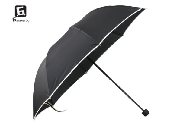 Сгъваем чадър- черен