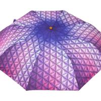 Полуавтоматичен сгъваем чадър- лилав