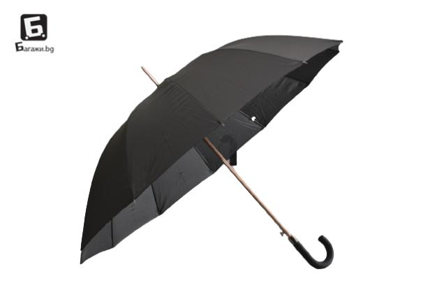 Несгъваем полуавтоматичен мъжки чадър