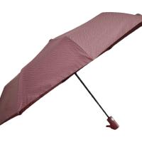 Полуавтоматичен сгъваем чадър- бордо