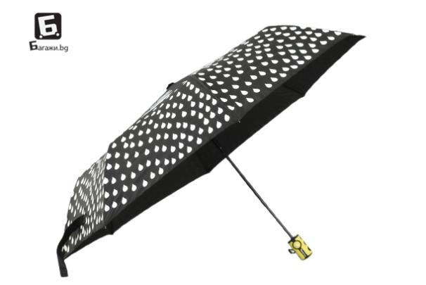 Полуавтоматичен магически чадър- черен