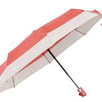 Автоматичен дамски чадър- червен