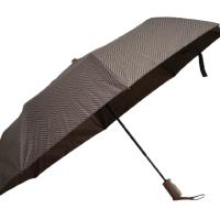 Полуавтоматичен сгъваем чадър- кафяв