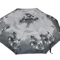Автоматичен сгъваем чадър- черно-бял