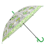 Детски чадър прозрачен с жаби