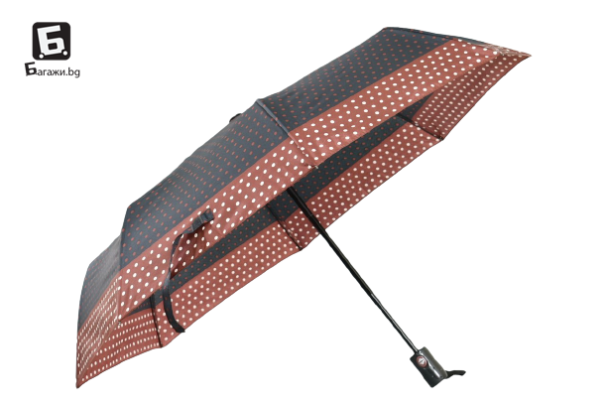 Автоматичен дамски чадър- черен