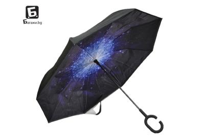 Ветроупорен затварящ се на обратно чадър Coolbrella