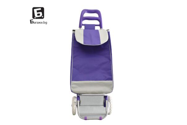 Лилава пазарска количка