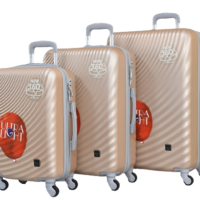 Твърди куфари в три размера цвят шампанско код: 8077